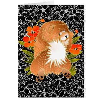 BINDI MINGSIE red chow  greeting cards