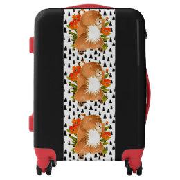 BINDI MINGSIE red chow  luggage -choose size