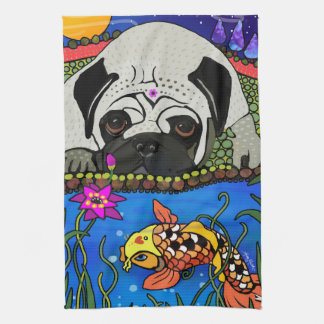BINDI PUG - kitchen or dog show towel