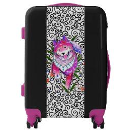 BINDI SHIBA INU spiral  luggage -choose size