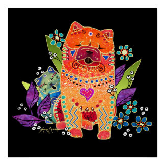 BINDI smooth chow dog print-choose size Poster