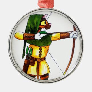 Bindi the Archer Metal Ornament