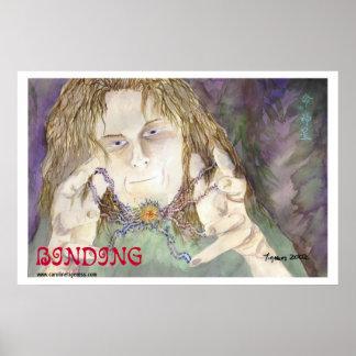 Binding - Fantasy Art by Caroline Tigeress Print