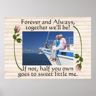 Binding Love, Marriage, Anniversary Humor Poster