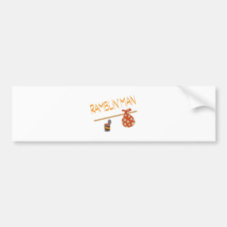 Bindle Ramblin Man Car Bumper Sticker