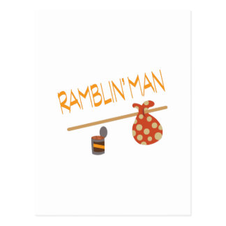 Bindle Ramblin Man Postcard