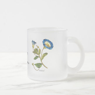 Bindweed Frosted Glass Coffee Mug
