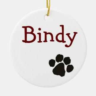 Bindy - dog pendant ceramic ornament