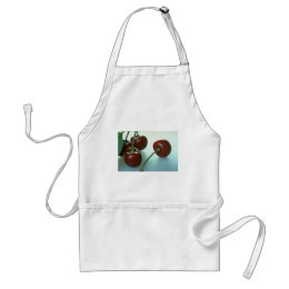 Bing cherries adult apron
