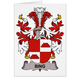 Bing Family Crest Greeting Card