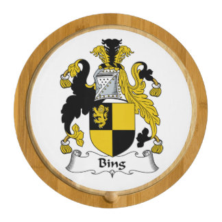 Bing Family Crest Round Cheese Board