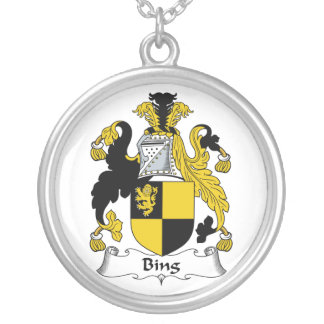Bing Family Crest Round Pendant Necklace