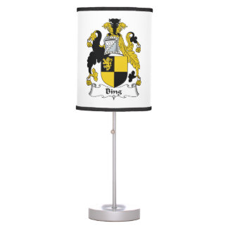Bing Family Crest Table Lamps