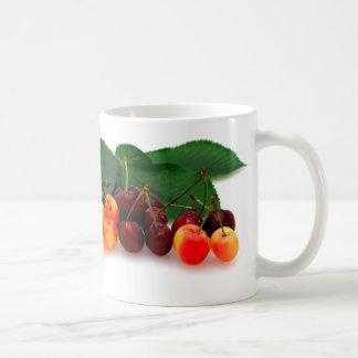 Bing y cerezas más lluviosas taza de café