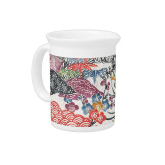 Bingata Floral II Drink Pitcher