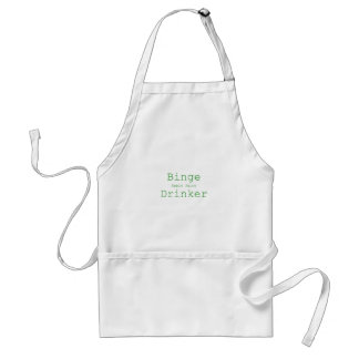Binge Apple Juice Drinker Yellow Green Pink Adult Apron