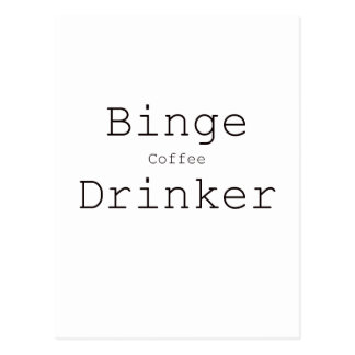 Binge Coffee Drinker Black Blue Red Postcard