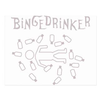 binge drinker icon postcard