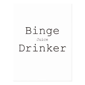 Binge Juice Drinker Black Blue Red Postcard
