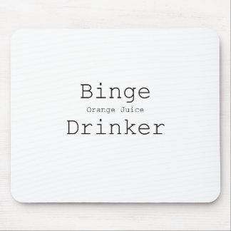 Binge Orange Juice Drinker Black Blue Red Mouse Pad