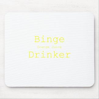 Binge Orange Juice Drinker Yellow Green Pink Mouse Pad