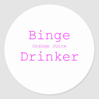 Binge Orange Juice Drinker Yellow Green Pink Sticker