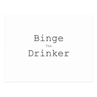 Binge Tea Drinker Black Blue Red Postcard