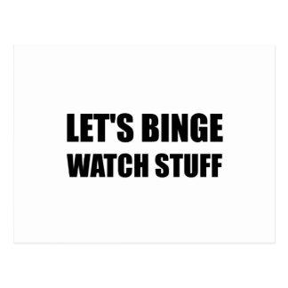 Binge Watch Stuff Postcard