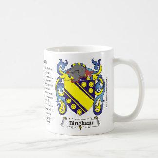 Bingham Family Coat of Arms Mug