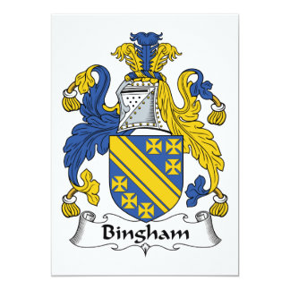 "Bingham Family Crest 5"" X 7"" Invitation Card"