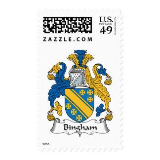 Bingham Family Crest Postage Stamp