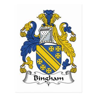 Bingham Family Crest Postcard