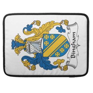Bingham Family Crest Sleeves For MacBook Pro