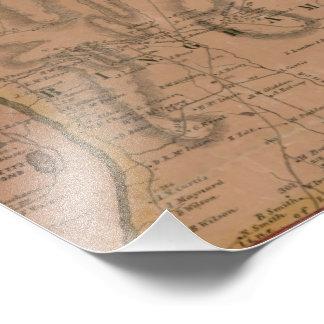 Bingham Maine Map - 1860 Photographic Print
