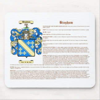 Bingham (meaning) mouse pad