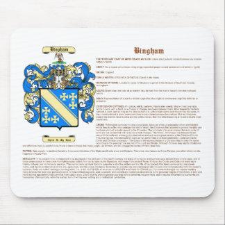 Bingham (significado) tapete de ratones