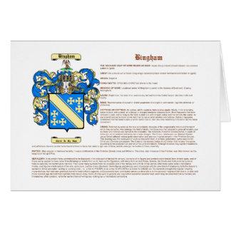 Bingham (significado) tarjeta pequeña