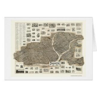 Binghamton, mapa panorámico de NY - 1901 Tarjeton