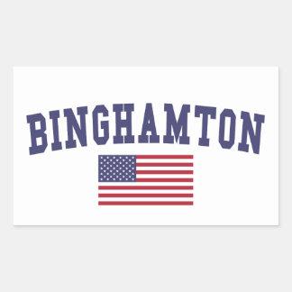 Binghamton US Flag Rectangular Sticker