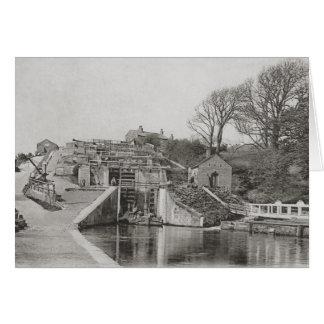 Bingley Five Rise Locks birthday Card