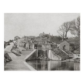 Bingley Five Rise Locks Postcard