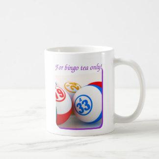 Bingo Addict's white mug