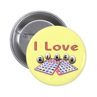 Bingo: Amo bingo Pin Redondo De 2 Pulgadas