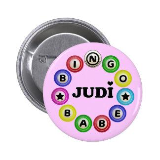 Bingo Babe Judi 2 Inch Round Button