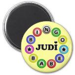 Bingo Babe Judi 2 Inch Round Magnet