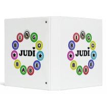Bingo Babe Judi 3 Ring Binders