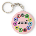 Bingo Babe Judi Basic Round Button Keychain