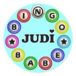 Bingo Babe Judi Classic Round Sticker