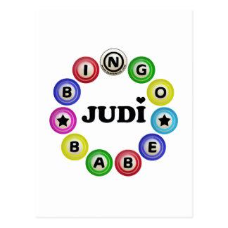 Bingo Babe Judi Postcard