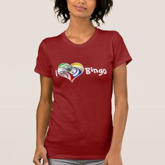 Bingo ball heart logo shirt